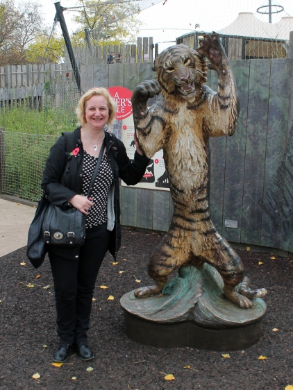 Sarah and tiger